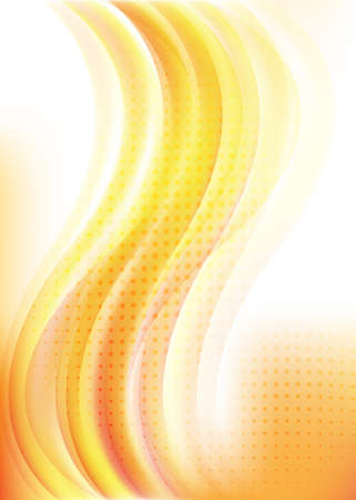 Vertical wave background in warm colors for design Vector Stock Vector - 13036117