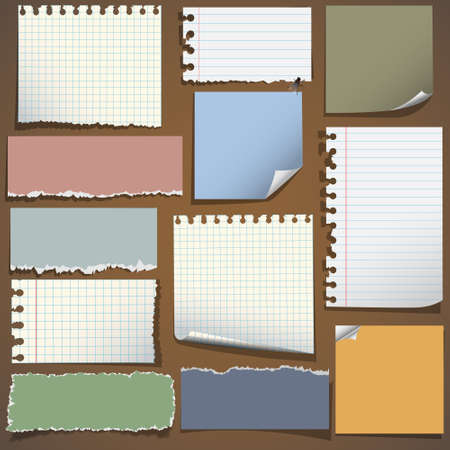 Various notes paper Stock Vector - 13123620