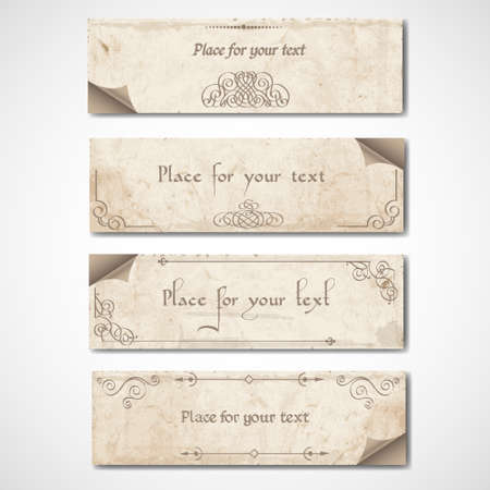 Vintage banners with calligraphic elements Stock Vector - 13123625