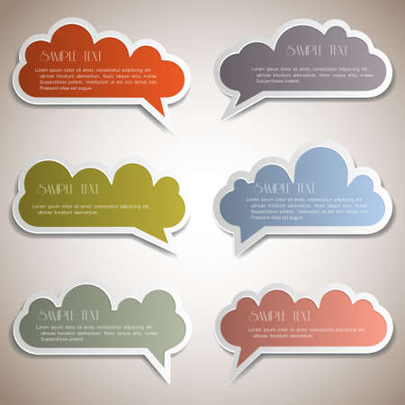 Paper speech bubbles Stock Vector - 13150913