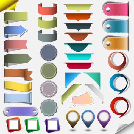 Collection different web elements. Vector
