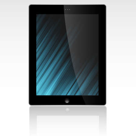 Tablet PC display with abstract background. Stock Vector - 13168819