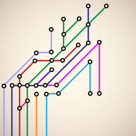 network cable: Abstract subway map