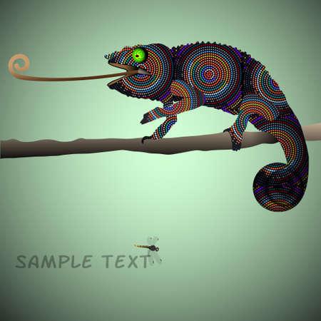 the tail: Vector de fondo con el camale�n