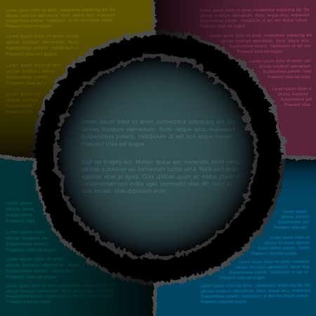 Torn paper background.Vector eps10  Vector