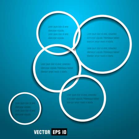 circle design: Abstract web design circles Illustration