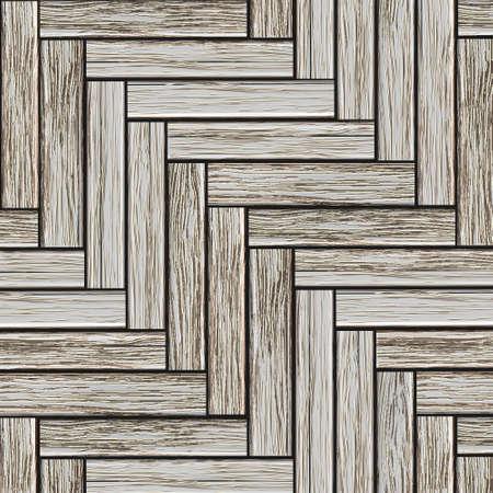 laminate flooring: Grey wood parquet.