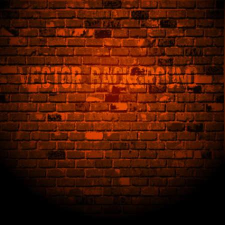 old brick wall:  Old brick wall. Vector texture