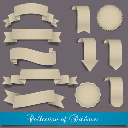 Retro ribbons and labels.Vector set Vector