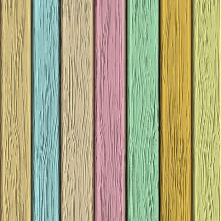 Old wooden texture in pastel tones. Vector