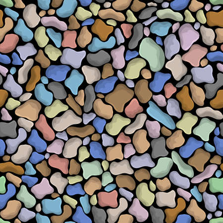 repeat square: Colorful vector seamless texture of stones