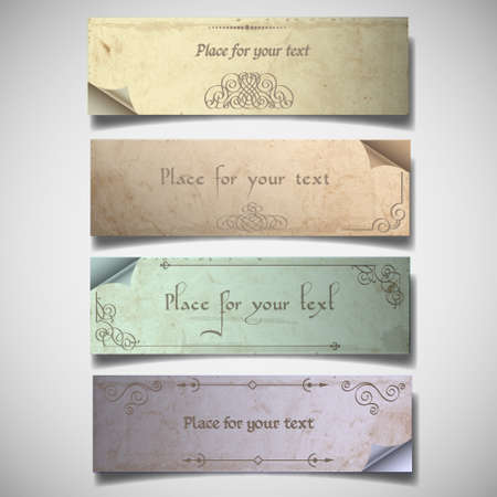 Vintage banners in pastel tones.Vector set  Stock Vector - 13306241