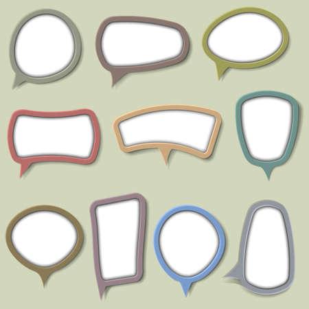 Collection of bubbles for speech.Vector eps 10 Vector