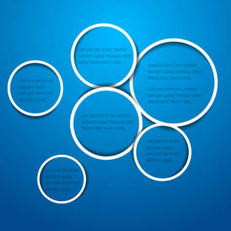Abstract circles for web design on blue. Vector eps10 Stock Vector - 13436082