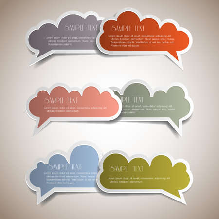 Colorful bubbles for speech. Vector set Vector