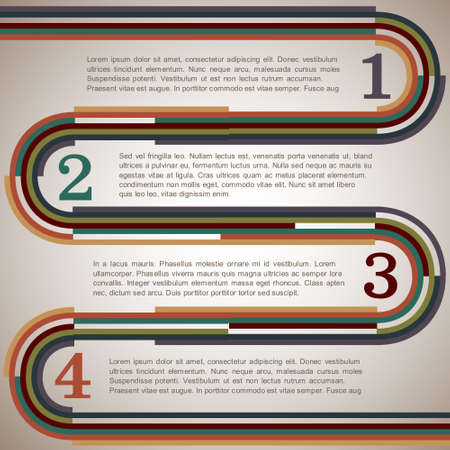 vintage scrolls: Design template with retro lines.Vector eps10