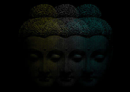 buddha image: Face Of Buddha.Creative vector