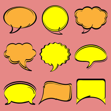 Speech bubbles in comic style.Vector set Vector