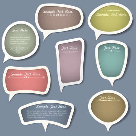 free speech: Speech bubbles with calligraphic elements.Vector set