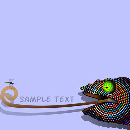 Vector background with decorative Chameleon  Vector
