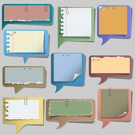 Torn paper speech bubbles.Vector set  Vector