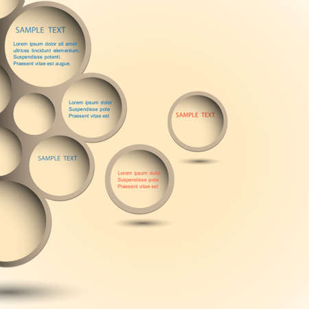 Abstract new design bubble background. Vector