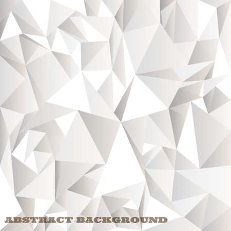 abstrato: White crumpled abstract background Vector eps10