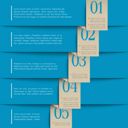 numbered: Carta numerata design banner modello