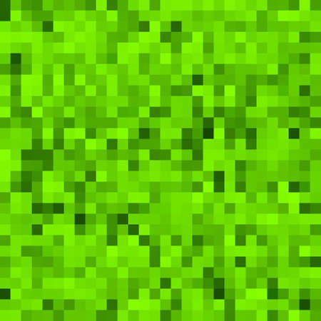 Green pixel background  Seamless  Vector