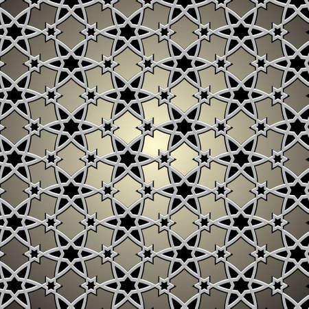 motive: Metallic-Muster auf islamische Motiv Abbildung Illustration