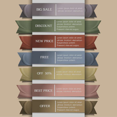 Set of banner or ribbons Vector