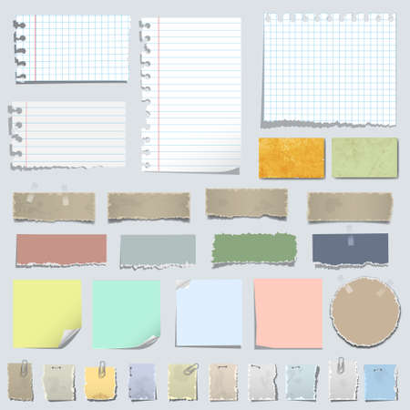 Set of various notes paper Stock Vector - 13724017