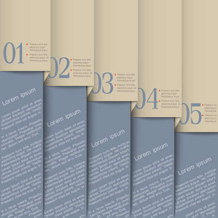 Grey design template.Vector paper numbered banners Vector