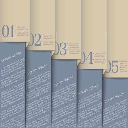 numbered: Grigio paper design template.Vector numerati banner