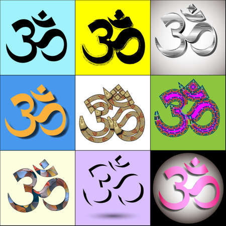Various Om Aum Symbol. Vector collection Stock Vector - 13748401
