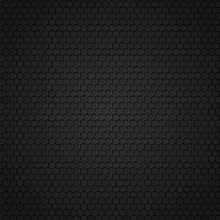 Black carbon seamless pattern with hexagons  Vector