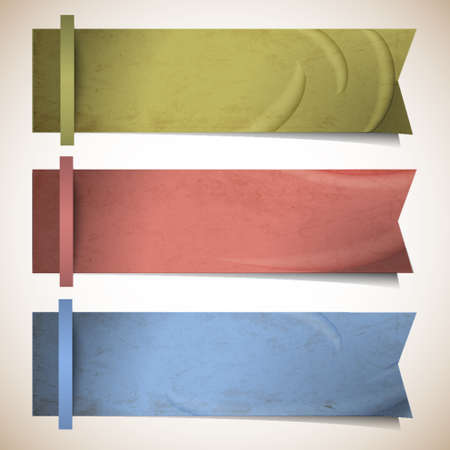 sticker design: Vector set of ribbons banners