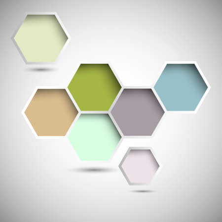 six web website: Abstract new design hexagons background  Illustration