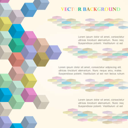 Cubes vector background in retro style Vector