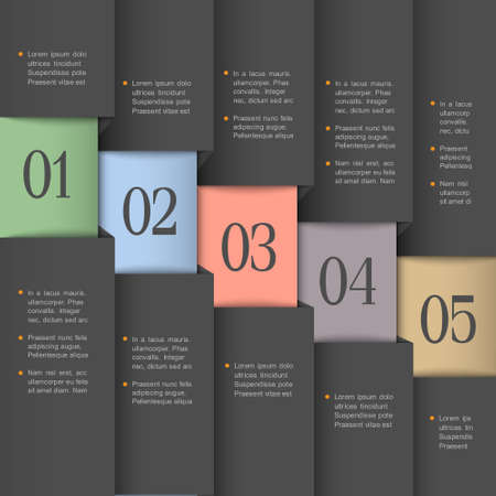 info graphics:  Creative design template Vector paper numbered banners
