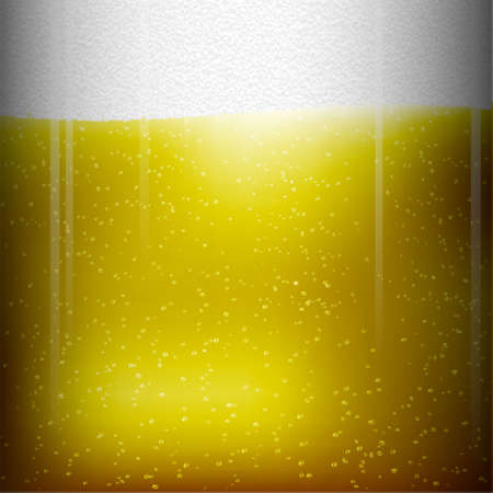 condensation on glass: Beer texture  background Illustration