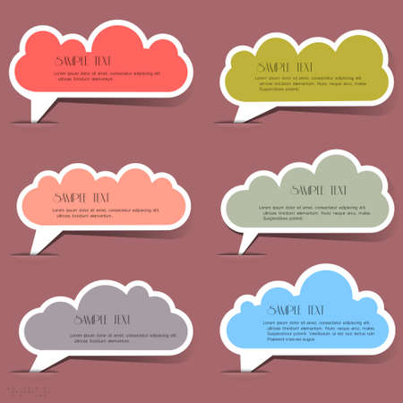 Clouds bubbles for speech set Stock Vector - 13983221