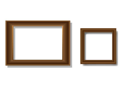 Two wooden frames Vector