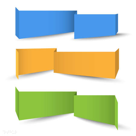Origami banners for web design  Vector set Vector