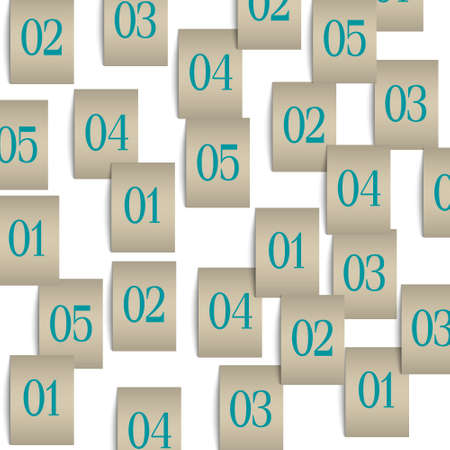 background with pieces of paper with numbers Vector