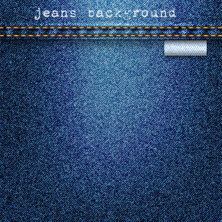 seams: Denim texture background  Realistic vector illustration