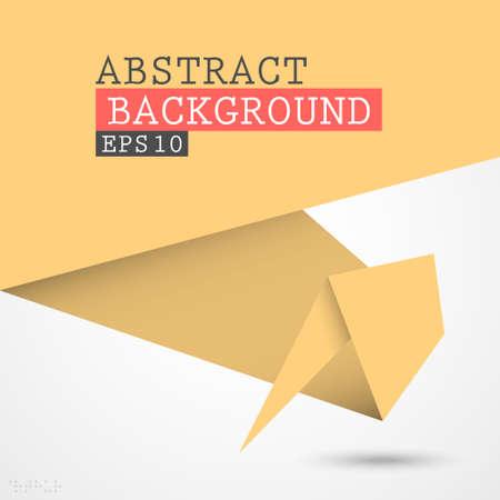Paper origami vector background  Vector