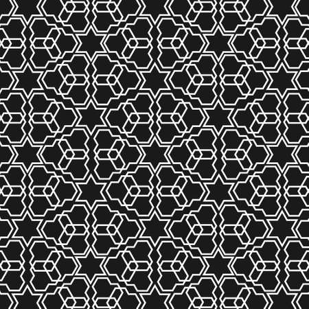 oriental: Black and white islamic pattern