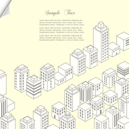Vector city  Construction concept background Illustration