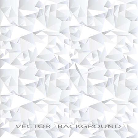 Weißer Kristall abstrakt